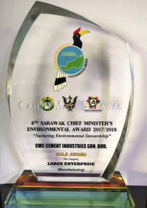 Gold Award Trophy for Large Enterprise (Manufacturing Sector)
