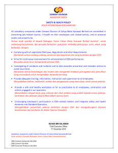 Safety & Health Policy